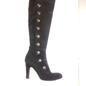 Juicy couture black zip up boots OTK